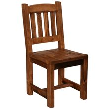 A cool reclaimed wood chair that's super sturdy looking.