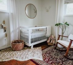 @babyletto on Instagram: lovely warm accents in this boho chic nursery  | #babyletto Hudson crib | : designed by @amandalalama