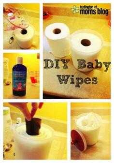 DIY Baby Wipes- super easy! #DIY #baby #babywipes