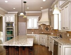 Popular Traditional Kitchen Pictures White Cabinets