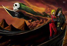 Harlock, Yuki and The Arcadia by on deviantART Space Pirate, Pirates, Darth Vader, Deviantart, Fictional Characters, Art, Fantasy Characters