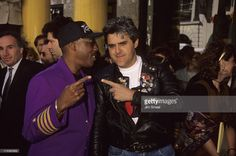Arsenio Hall and Jay Leno during 'Get Busy' Hollywood Walk of Fame in Hollywood, California, United States.