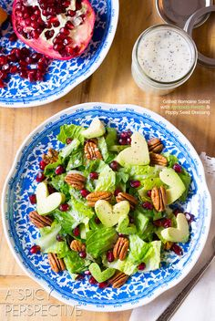 Grilled Romaine Salad + Lemon Poppy Seed Dressing and Avocado Hearts! #valentinesday