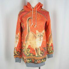 #spreepicky #jumper #hoodie #longsleeve #orange #kitten #onesize #freeship