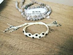 Chętnie udostępniam najnowszy produkt dodany do mojego sklepu #etsy: Macrame bracelet, Bracelet, beads,Crystals, Stones https://etsy.me/2L6qdNP