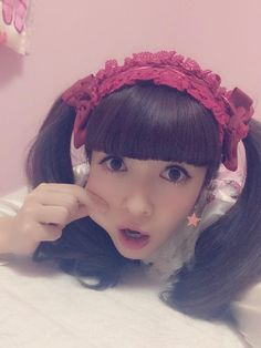Misako Aoki with her new red headset