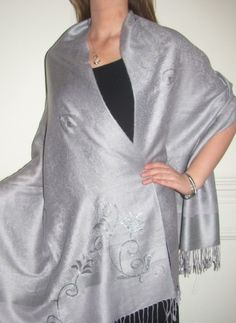 Beautiful silver evening wrap shawls are best sellers with women for evening wear as every woman knows a silver shawls completes her wardrobe, it matches so many outfits. http://www.yourselegantly.com/catalogsearch/result/?q=silver+evening+wrap