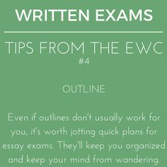 Your outline needn't be formal. Just functional. #writingtips #exams #writingcenter #essayexams #studytips