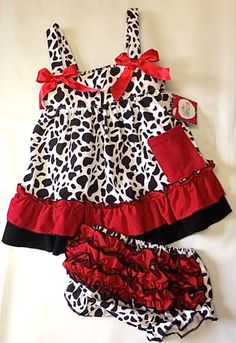 Cow Print Baby Swing Top with Ruffle Bloomers, Cow Print Baby, Cowgirl Baby Swing Top