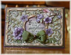 Joyfully Made Designs, Heartfelt Creations, card with flowers and bird