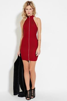 Pintucked Zipper Halter Dress | Forever 21 #letscelebrate