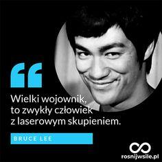 """""""Wielki wojownik, to zwykły człowiek z laserowym skupieniem"""". - Bruce Lee #rosnijwsile #rozwój #motywacja #sukces #pieniądze #biznes #inspiracja #koncetracja #focus #skupienie #sentencje #myśli #marzenia #szczęście #życie #pasja #aforyzmy #quotes #cytaty Bruce Lee, Tai Chi, Poetry Quotes, Karate, Inspire Me, Martial Arts, Things I Want, Inspirational Quotes, Success"""