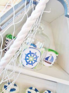 Nautical Chevron Baby Shower