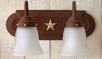 I'm not into the western look as much as my wife is but this might be a good mix. It doesn't scream cowboy but the star and colors fit within that look. I'll have to recommend this light to her.
