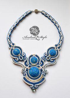 Soutache necklace S0126 - Andrea Zelenak