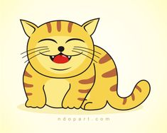 cute cat cartoons | Look at my cat, is it cute? Yes of course, very cute, chubby and lazy ...