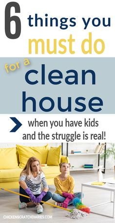 Clean house tips from a family of 6 -- organizing ideas that make the process much easier! House Cleaning Tips, Diy Cleaning Products, Cleaning Solutions, Cleaning Hacks, Organize Your Life, Organizing Your Home, Organizing Ideas, Family Schedule, Family Of 6