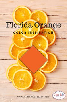 Florida Orange is an eye-catching, bright orange. This citrus color will infuse energy into any room.Use Florida Orange in your coastal oasis or chic space to add a bold, fresh feel to your painted furniture projects! Orange Painted Furniture, Chalk Paint Furniture, Furniture Projects, Florida Oranges, Dixie Belle Paint, Mineral Paint, Pink Tone, Tree Designs, Vivid Colors