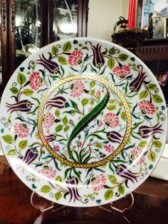 Porselen, hand painted, plate