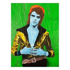 """Ziggy Bowie in Green - Michael Houghton """"The Smoking Series"""""""