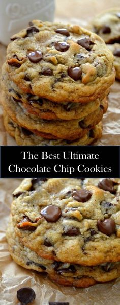 ★★★★★ 989 reviews :  Special Foods And Drinks Are Ready To Accompany You ! #Ultimate #Chocolate #Chip #Cookies Chocolate Chip Cookie Cake, Chocolate Chip Recipes, Fudge Recipes, Chocolate Cupcakes, Brownie Cookies, Cake Cookies, Sweet Cookies, Cookie Recipes, Birthday Cookies