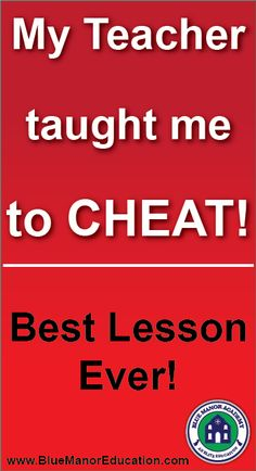 Did your teacher ever teach you to cheat?!