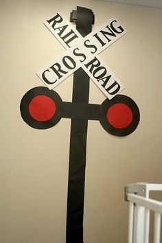 Rail road crossing sign