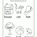 Draw a circle around each word you see! In this early reading worksheet, your child draws circles around the word under each picture and then guesses what the word might mean based on the picture.