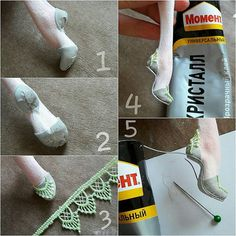 МК 2 часть 1.2. Из тонкой ткани приклеиваю пяточку и носок туфльки. 3. Из кусочка кружева приклеиваю декор 4. Приклеиваю подошку (она тонкая, поэтому легко гнется) 5. В промежуток между подошвой и ногой приклеиваю тонкий шнурок. #кукольнаяобувь #ручнаяработа #авторскаяработа #handmade