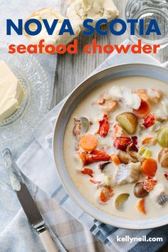 Nova Scotia Seafood Chowder – Kelly Neil – Well come To My Web Site come Here Brom Lobster Recipes, Fish Recipes, Seafood Recipes, Soup Recipes, Recipies, Healthy Recipes, Fresh Lobster, How To Cook Lobster, Frozen Seafood
