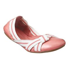 great idea for snazzing up some flats: attach some preppy or colorful grosgrain ribbon