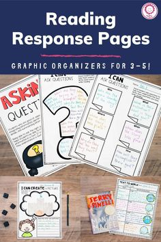 Reading response pages are perfect activities to keep your students engaged and learning while holding your guided reading groups. These printables keep your students engaged in developmentally-appropriate activities, which allow them to apply and practice the skills and strategies they've learned throughout the year. These pages can all be done individually, or in small groups, after direct instruction from the teacher. Perfect for third, fourth, and fifth grade!