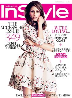 A little in love with @Olivia García García Palermo's floral frock on the InStyle UK cover #cover #graphic #design #visual #impact #fashion