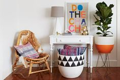 ideas diy para decorar macetas con formas geometricas