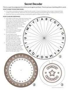 for the escape room Printable Secret Decoder Wheel Escape Room Diy, Escape Room For Kids, Escape Room Puzzles, Escape Room Themes, Escape Puzzle, Secret Code, The Secret, Post Secret, Escape The Classroom