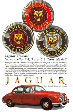 Jaguar MK2,with 2.4 Litre, 3.4 Litre, and the 3.8 Litre engine options available. v@e.