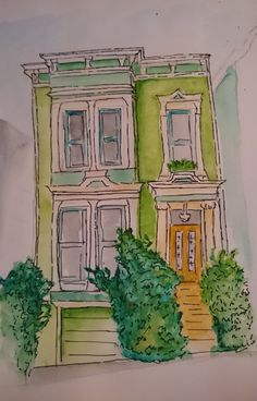 Victorian Town House, San Francisco set by Tony Underhill and sent in by Lucy Bramley The Artist Magazine, Town House, Victorian Homes, House Painting, Magazines, Exercises, San Francisco, City, Projects