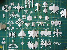 Beautiful folded paper bugs and shapes || herzensart journal: Knipwerk