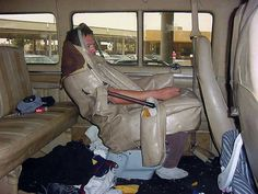 smuggling people by disguising them as a car seat
