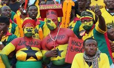 Ghana fans, here at the Cup of Nations quarter-final against Cape Verde, hope their side can win the tournament for the first time since 1982. Photograph: Ian Walton/Getty Images