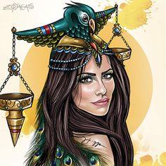 Zodiaca de Libra - Inspiração: Cléo Pires   #cleopires  #illustration #ilustracao #atriz by Higgo Cabral