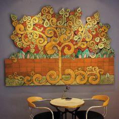 Ceramic wall art. Tree of life ceramic wall hanging. www.gvega.com.
