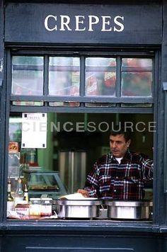 Crepe Vendor in Montmartre, Paris