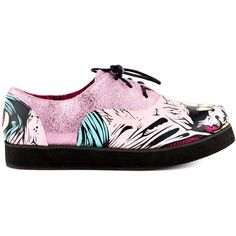 Iron Fist Women's Grave Dance Creeper - Pink (€45) ❤ liked on Polyvore featuring shoes, creepers, pink creeper shoes, glitter shoes, pink shoes, pink glitter shoes and multicolor shoes