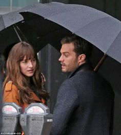Sequel: Dakota and Jamie looked relaxed, despite both being named worst actor and actress at the Razzies