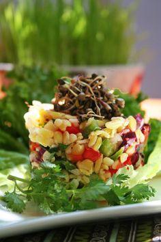 TODAS LAS RECETAS : Ceviche de trigo (trigo mote) Ceviche, Cocina Natural, Queso Fresco, Peruvian Recipes, Cobb Salad, Vegan Recipes, Vegetables, Foods, Drinks