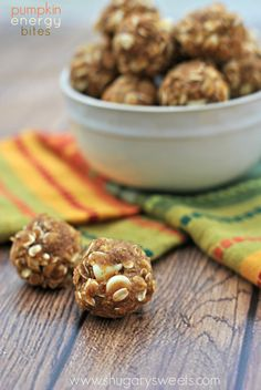 Skinny Pumpkin Energy Bites - not great, but good in a pinch