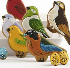 """These beautiful bird and egg cookies are """"Inspirational Cookies"""" from """"Fort Worth Food News"""".  This blog site is filled with GORGEOUS cookies."""