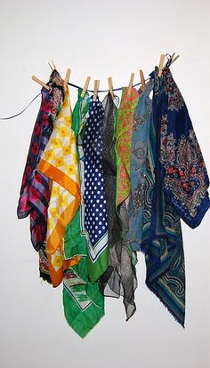 Vintage Scarves Lot by CheekyVintageCloset on Etsy, $28.50