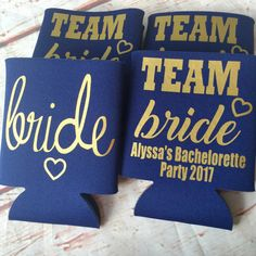 Bridesmaids Can Coolers - Team Bride  - Bachelorette Party Favors - Bachelorette Party Gifts - Bridesmaids Gifts - Gift for Bride